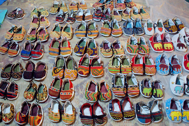 Handicraft shoes at Night Market