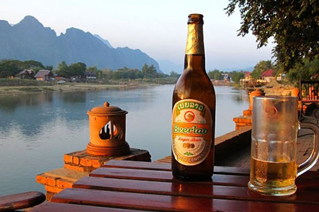 Lao beer is extremely worthwhile for visitors to enjoy