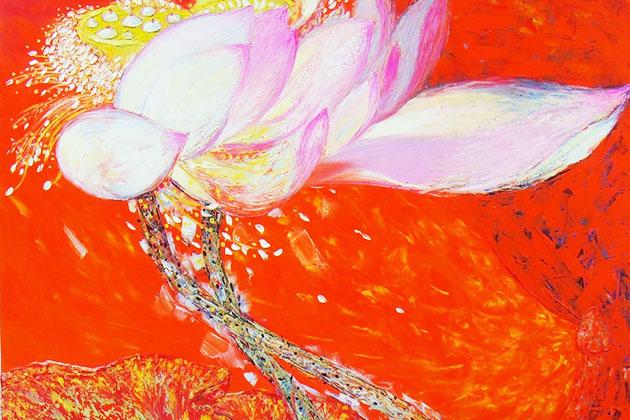 Lotus - Vietnamese Painting