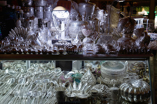 Silverware shop at Central Market Pnom Penh