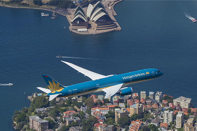 This is the third route of Vietnam airlines to Australia