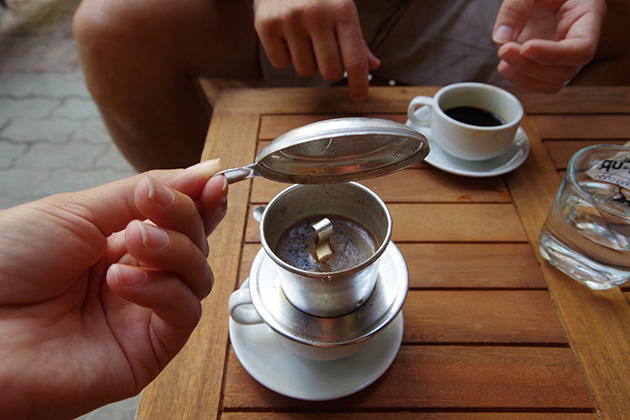 Vietnamese coffee is famous for the strong taste