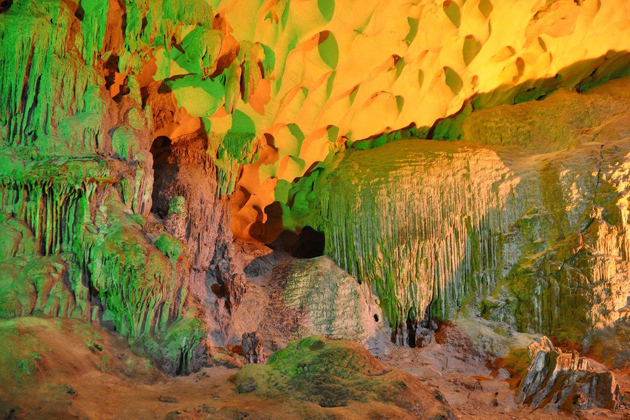 Stalactites are created after millions years, Sung Sot Cave