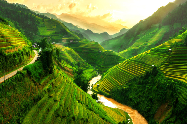 Vietnam is big travel land