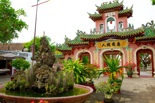 Garden and Chinese architecture inside Fujian Assembly Hall