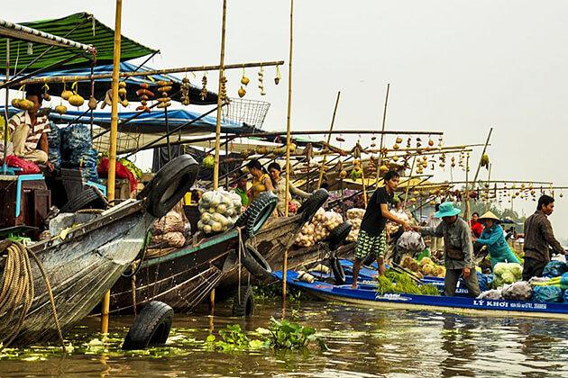 Nga Bay Floating Market Mekong Delta