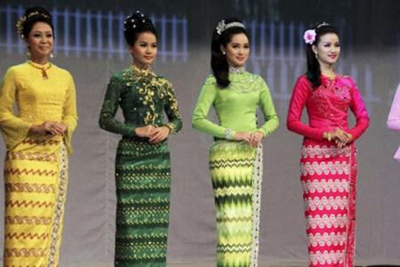 Myanmar National Costume - Indochina Tours