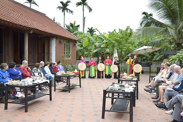 Cultural show in Yen Duc village