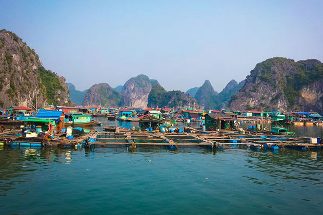 Floating Village halong Bay Indochina 3 Week Trip