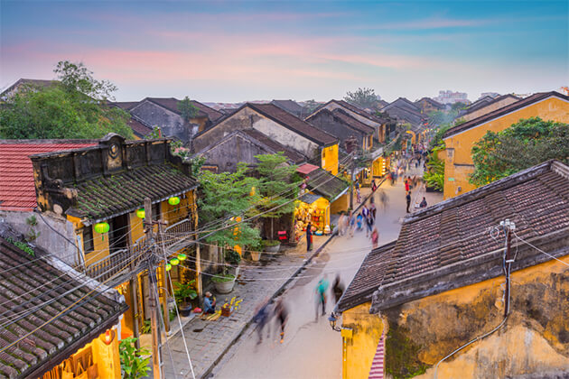 Hoi An from above - Essential Vietnam Cambodia 23 Days