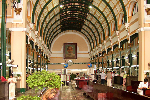 Old Post Office Saigon - Vietnam Cambodia Tour Package