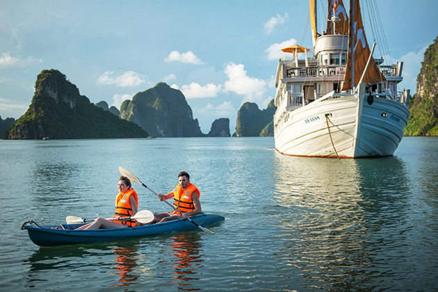 Kayaking in Halong Bay - Best Indochina Tours