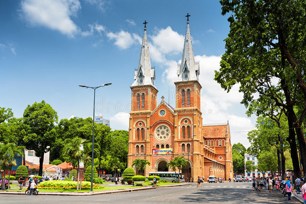 Notre Dame Cathedral Saigon - Tours to Indochina 22 Days