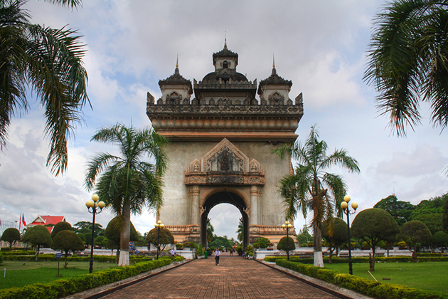Patuxai Victory Monument - Indochina 22 Day Tour
