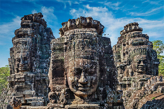 Bayon Temple Angkor Thom Indochina Vacation 24 Days