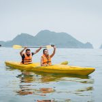Couple Goes Kayaking on Halong Bay