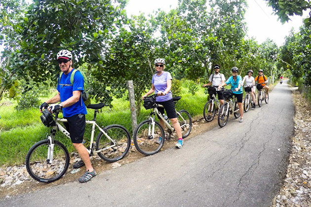 Cycling in Vinh Long Mekong
