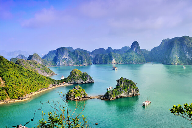 Halong Bay Panorama - Indochina Itinerary 24 Days