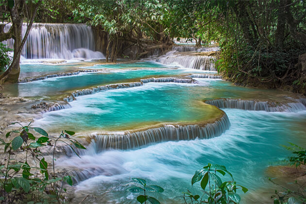 Kuang Si Waterfall - Indochina Travel Package 24 Days