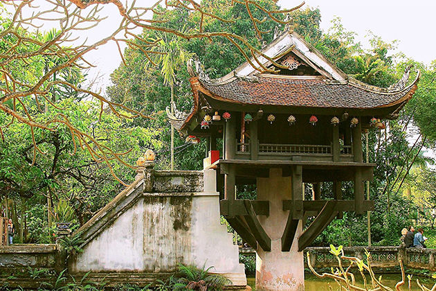 One Pillar Pagoda - Vietnam Laos 2 Week Tour Package