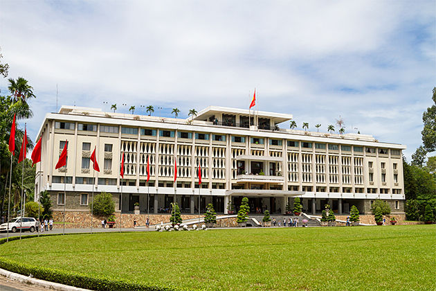 Reunification Palace - Vietnam Laos 14 Day Tour