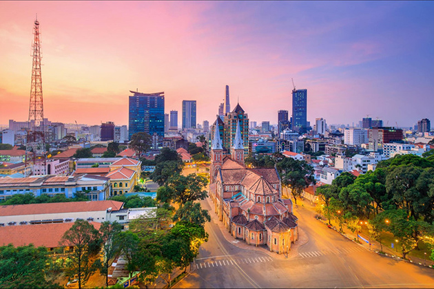 Saigon at Sunset