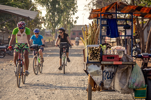 Cycling around Phnom Penh with Indochina Tours