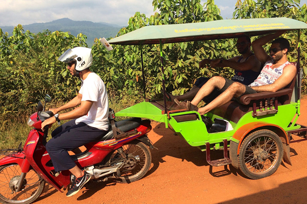 Traveling around Cambodia by tuktuk