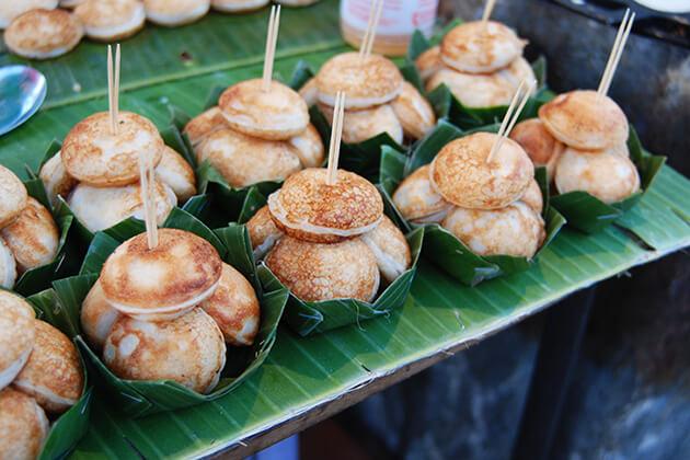 Laos Coconut Pancakes Laotian Dish