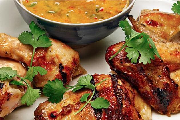 Savannakhet Grilled Chicken Laos Street Dish