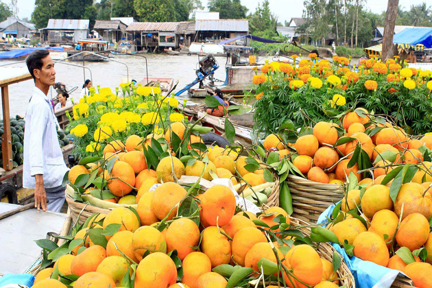 floating market mekong delta southeast asia 25 days