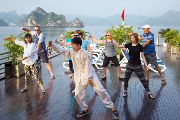 tai chi halong bay southeast asia tour