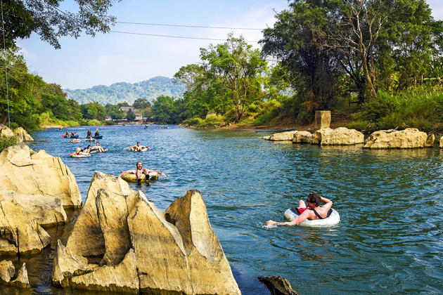 tubing in vang vieng laos indochina 29 day trip