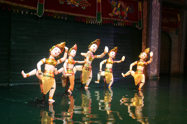 water puppet show 25 days in southeast asia