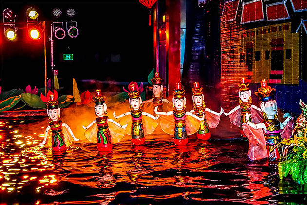 Hanoi Water Puppet Show - Indochina Family Adventure