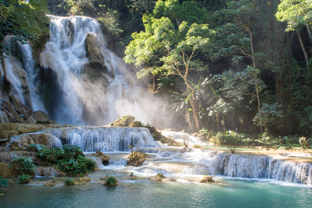 Kuang Si Waterfalls - Vietnam Laos 15 Days
