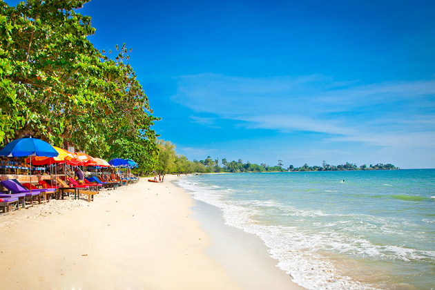 Sihanoukville Beach - Tours to Cambodia and Laos 16 Days