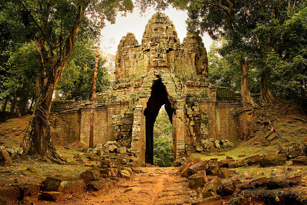 West Gate of Angkor Thom indochina tours