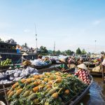 cai be floating market mekong delta