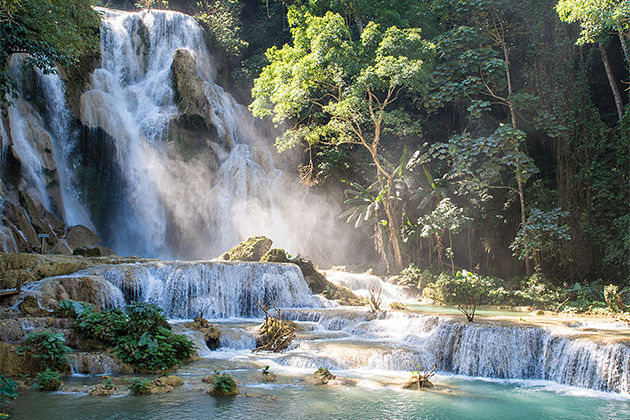 kuang si waterfalls indochina tours including vietnam and laos