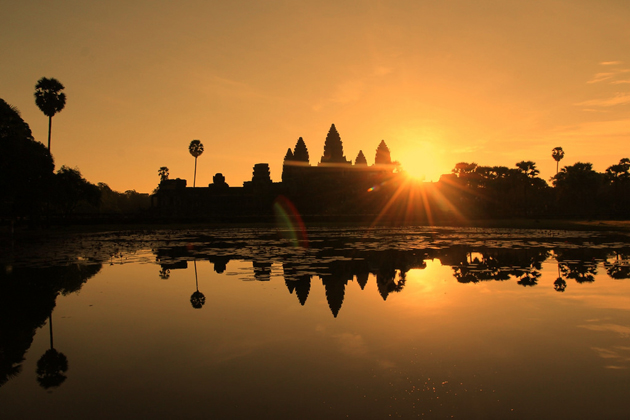 sunset in angkor wat cambodia - southeast asia tours 25 days