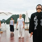tai chi lesson at halong bay vietnam