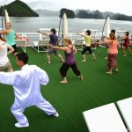 tai chi lesson halong bay indochina tours