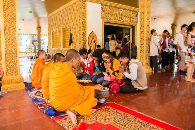 Cambodia temple khmer new year