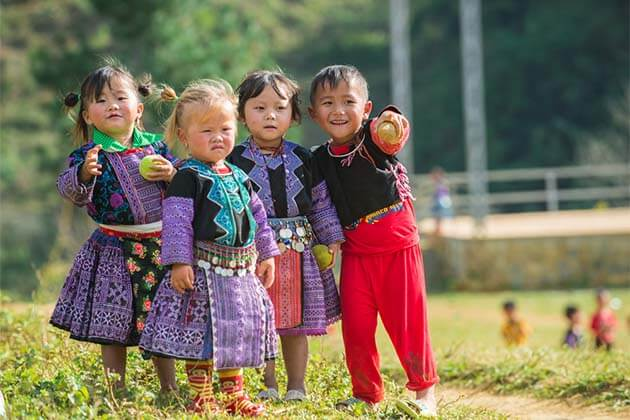 Ethnic Children in Son La - 20 Day Indochina Trip