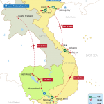 Indochina Past and Present 21 Days Map