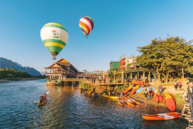 Kayaking in Vang Vieng Indochina Holiday