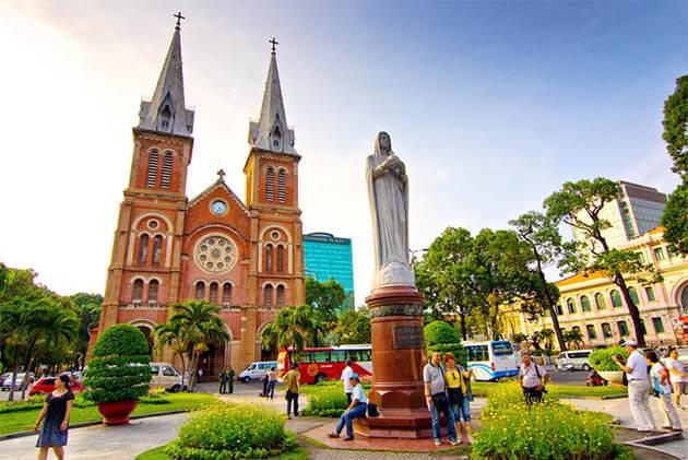 Notre Dame Cathedral Saigon Vietnam Cambodia Tours