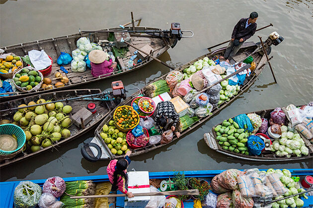 Phong Dien Floating Market Indochina 26 Day Itinerary