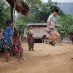 Play with children in Ban Xanghai